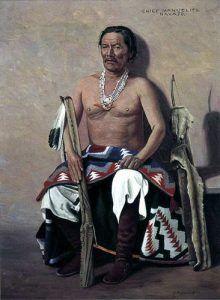 Navajo War Chief Manuelito, by Elbridge Ayer Burbank, 1908
