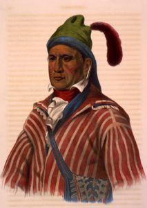 Me-Na-Wa. A Creek warrior, McKenney and Hall, 1837