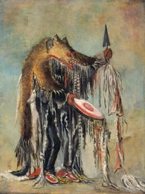 Medicine Man Performing by George Catlin