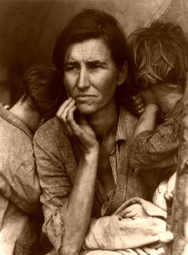 Migrant Mother during the Depression era