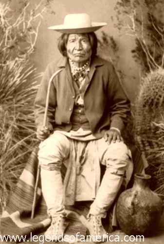Nana, Apache War Chief by A.F. Randall, 1884