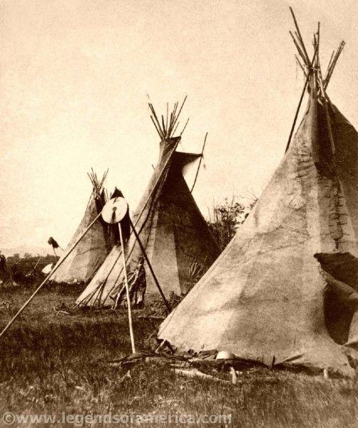 Nez Perce Tipis, Montana, 1871