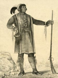 Seminole Chiefe Osceola by George Catlin