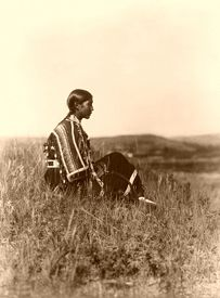 Piegan Woman by Edward S. Curtis, 1910.