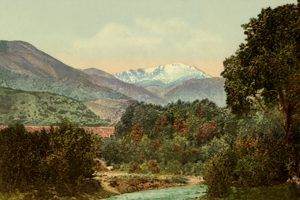 Pike Peak from near Colorado City by Detroit Photographic, 1900