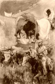 Pioneers in Covered Wagons, by Thomas Fogarty