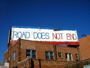 Route 66 does not end along 6th Street in Amarillo, Texas, Kathy Weiser-Alexander.