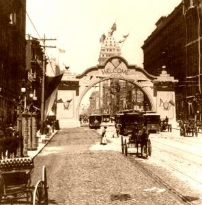 Market Street in 1899, photo by B.L. Singley.