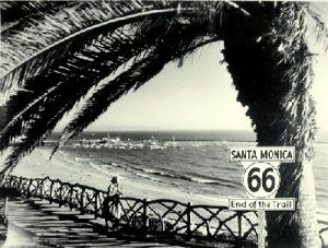 Route 66 ends in Santa Monica, California