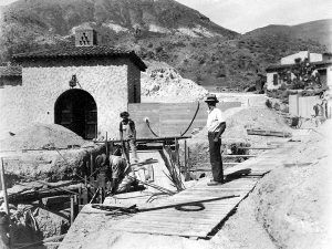 Work crew at Scotty's Castle