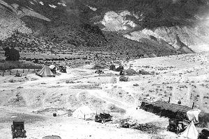 Indian camp at Scotty's Castle in 1926