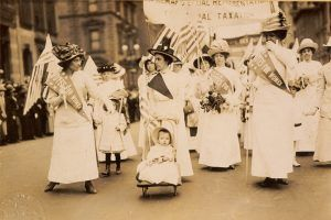 Suffragists Marching NYC 1912 American Press Association