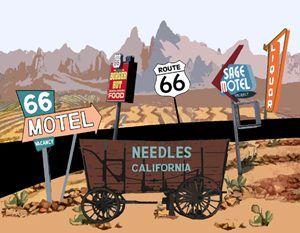 Needles, California Custom Postcard. by Kathy Weiser-Alexander.