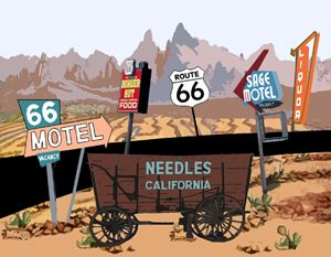 Needles, California Custom Postcard