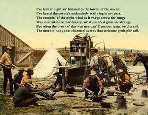 Grub Pile Poem Postcard