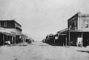 Allen Street in Tombstone, 1882.
