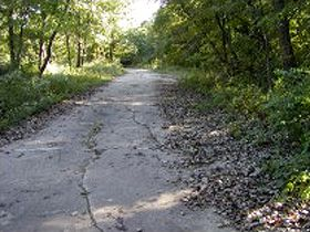 Old Route 66 in Carpenter Park, Springfield, Illinois