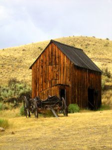 Bannack Barn & Wagon
