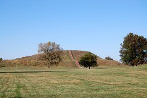 Cahokia - Monks Mound by Kathy Weiser
