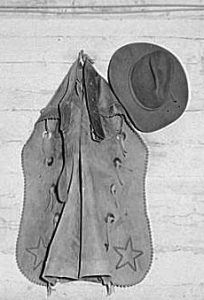 Cowboy chaps and hat