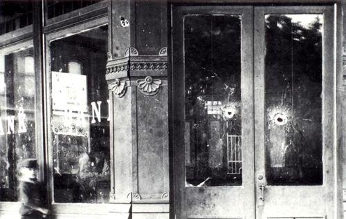 Condon Bank after gunfight
