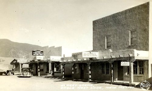 The old El Monte Hotel in Eagle Nest, New Mexico
