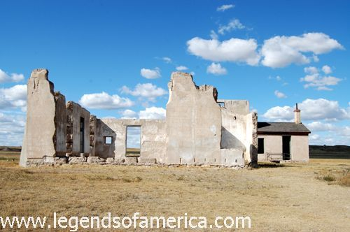 Fort Laramie Post Hospital ruins by Kathy Weiser-Alexander.