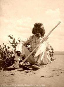 Hopi Smoking, Edward S. Curtis, 1907