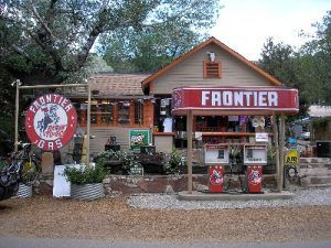 Frontier Gas, Madrid, New Mexico by Kathy Weiser-Alexander.