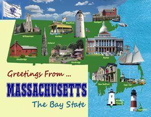 Massachusetts Postcard