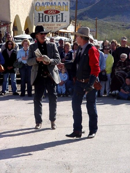 Gunfight recreation in Oatman, Arizona by Kathy Weiser-Alexander.