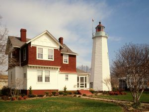 Old Point Comfort Lighthouse, Fort Monroe, Hampton, VA, Jack E.Boucher, 1988