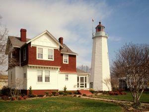 Old Point Comfort Lighthouse, Fort Monroe, Hampton, VA, Jack E.Boucher, 1988