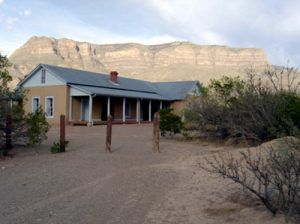 Oliver Lee's Dog Canyon Ranch House is now part of a New Mexico State Park, 2004, photo by Corey Recko