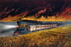 Prairie Fires by Currier & Ives, 1872