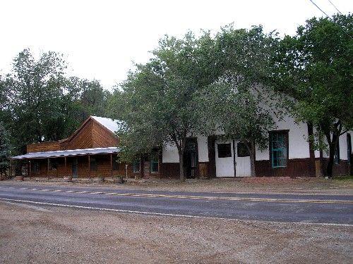 Schwenk's Hall, Cimarron, New Mexico today