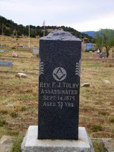 Franklin J. Tolby Grave, Cimarron, New Mexico by Kathy Weiser-Alexander