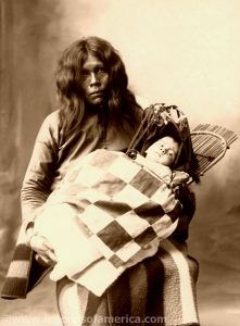 Wichita woman and child, 1899, Frank A. Rinehart