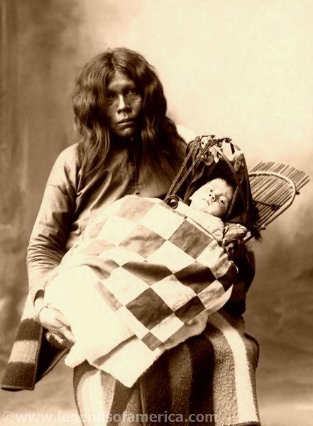 Wichita woman and child, 1899, Frank A. Rinehart