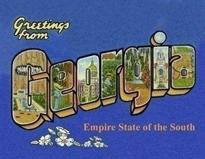 Greetings from Georgia Postcard.