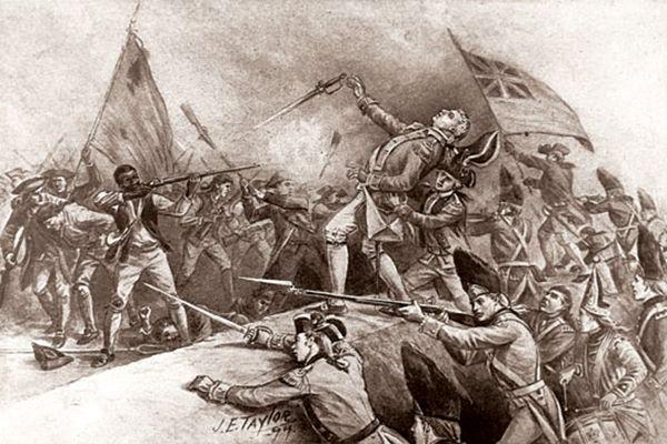 Black soldier in the American Revolution