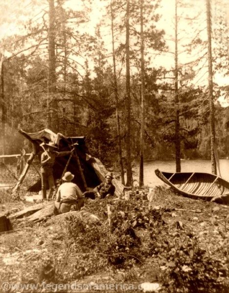 Camping at the Dalles, St. Louis River, T.W. Ingersoll, 1890