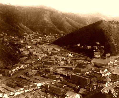 Deadwood town view 1888