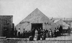 Keystone Hall, Laramie, Wyoming, 1868.