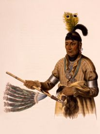 Naw-kaw, a Winnebago chief I.T. Bowen Lithographic,1836