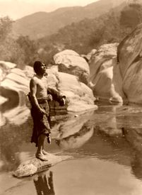 Quiet waters--Tule River Reservation, Yokut, Edward S. Curtis, 1924