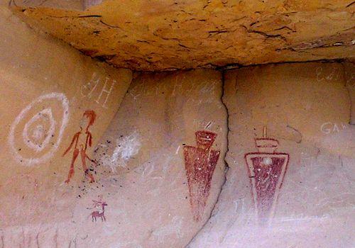 Fremont rock art in Sego Canyon, Utah