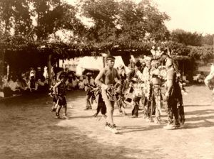 Skidi and Wichita dancers, Edward S. Curtis, 1927