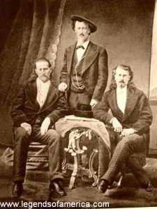 Wild Bill Hickok, Texas Jack, and Buffalo Bill Cody