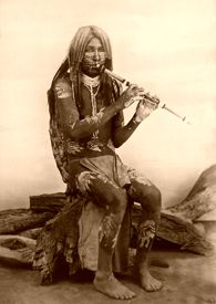 Yuma musician, Isaiah West Taber, around the turn of the century